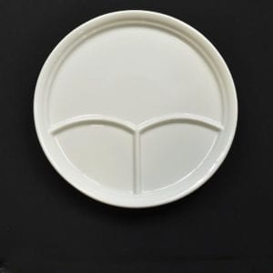 """11⅝"""" 3-Compartment Plate"""