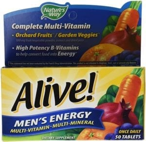 Alive Men's Energy Once Daily Multivitamin and Multimineral 50 Tablets